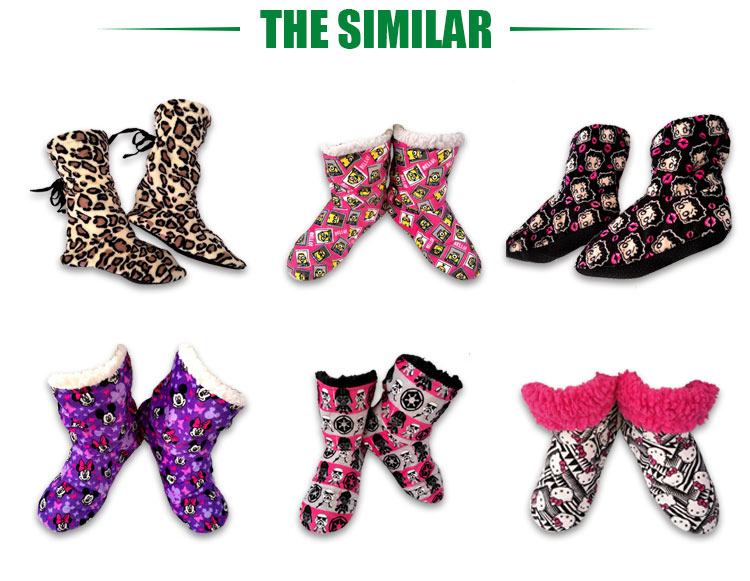 Customized color winter home boots women for kids