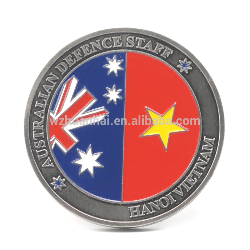 custom game stamping zinc alloy soft enamel logo challenge metal coin producer