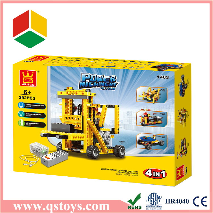 TOP sale toy colorful building blocks in color box with EN71