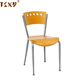 Plywood seat and back stackable metal bistro chair