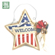 2018 new burlap star ornament welcome word sign home decoration