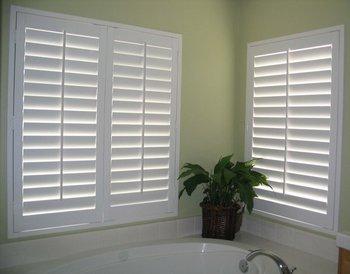 faux wood plantation shutters 2 panels - Wood Plantation Shutters