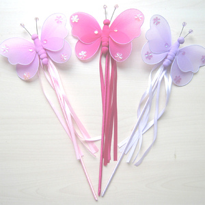 Artificial Butterfly shaped Ribbon Wholesale fairy wands