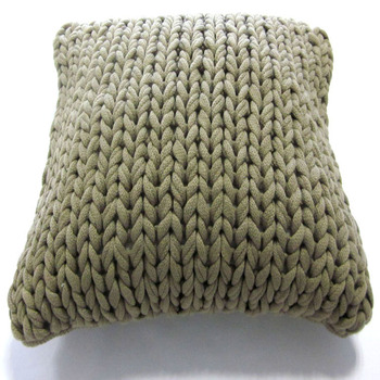 Szplh Handmade Cushion Cover Chunky Knitted Bed Cover Buy Handmade Cool How To Knit Pillow Covers