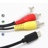 Best price DVD Player application mini usb to rca cable