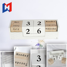 Factory cheap natural wooden advent calendar