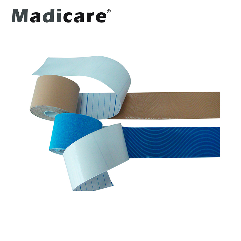 Kostenlose Probe 5cm * 5m Sport Athletic Muscle Protect Kinesiology 4-Wege-Stretch-Band Precut Kinesiology Tape