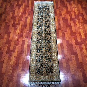 Luxury Chinese Hand Knotted Silk Rugs Persian Hand Woven Silk And