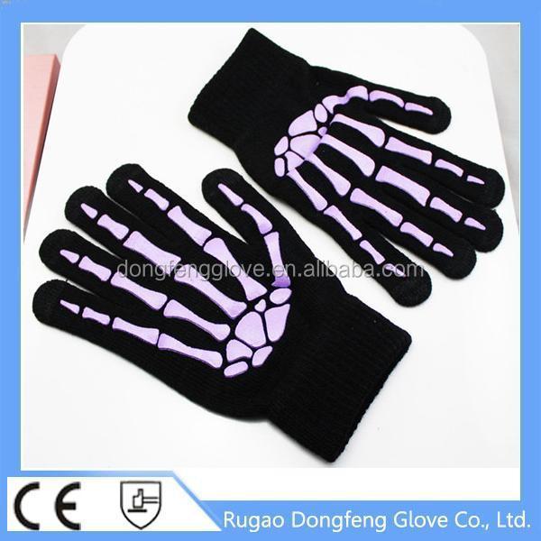 Unisex Touchscreen Compatible Halloween Gloves Skeleton Gloves ...