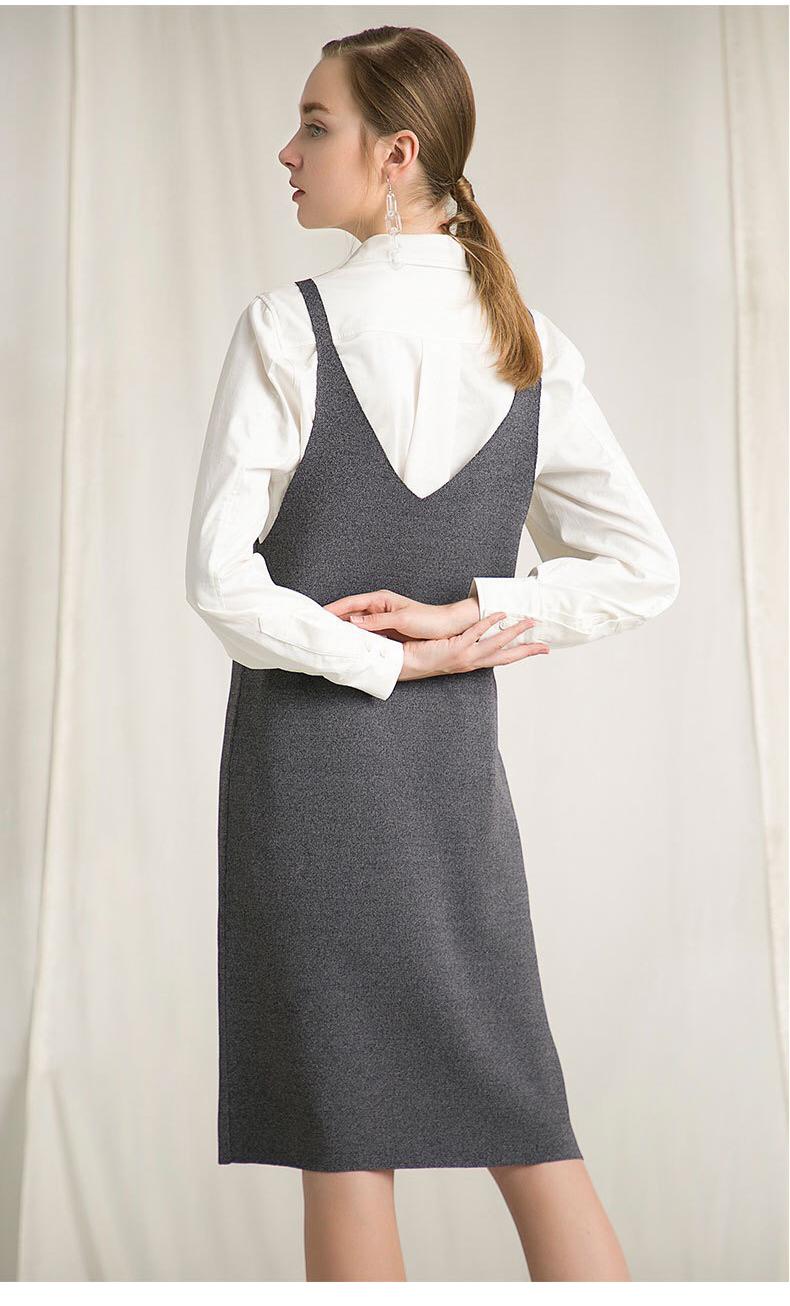 65% Viscose custom dames vrouwen diepe v-hals trui jurk