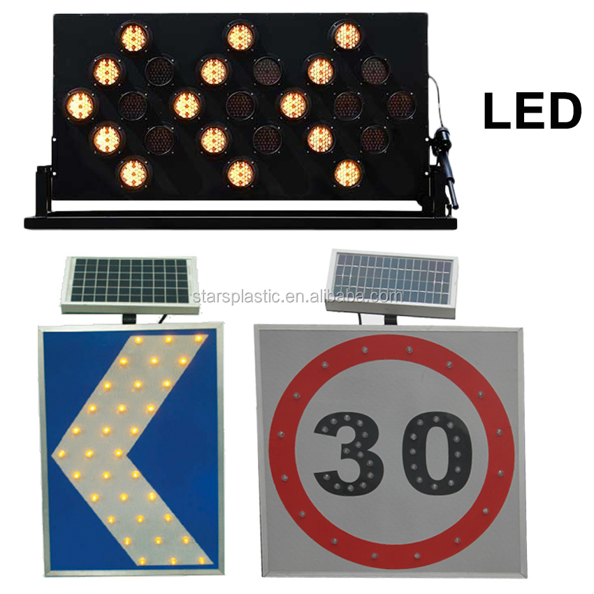 Factory popular LED Solar traffic warning sign