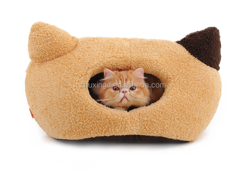 Wholesale outdoor cat house, cute cat tunnel bed, pet american style bed