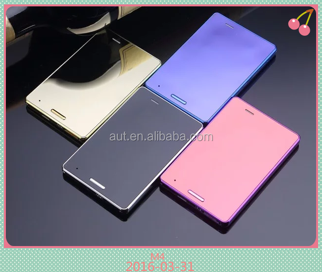 Colorful slim bank card dual sim mobile phone M4 with touch