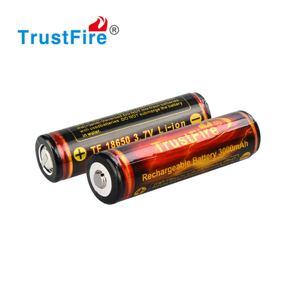 High capacity 18650 battery 3.7v rechargeable battery 3000mah
