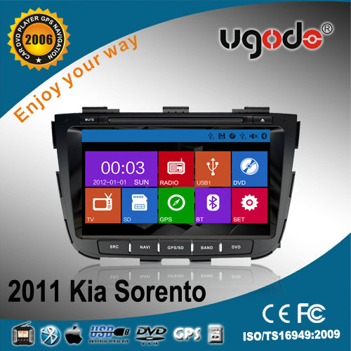 2 din DVD for Kia Sorento new 2013 with DVD GPS radio bluetooth, new win8 UI