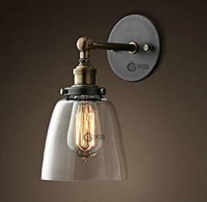 Modern decorative wall lamp American country minimalist lighting bar lamp shop personalized home decoration glass wall lamp single head wall lamp , 60