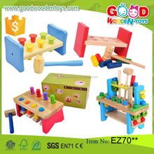 2017 New Design Kids Educational Wooden Tool Toy Set Pounding Bench Children Toy Wooden Toddler Toys