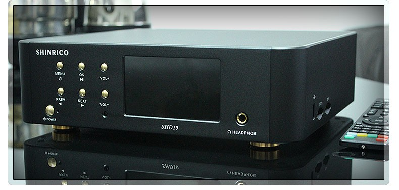Support 32Bit/192KHz hifi home audio Player Amplifier With Ess9018 DAC
