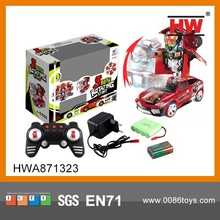Hot Sales 1:18 6CH RC Trans Robot Toy Car With Light And Music