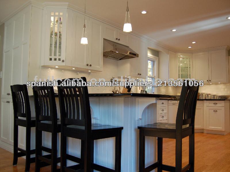 blanco agitador de pintura de madera sólida del gabinete de cocina ...