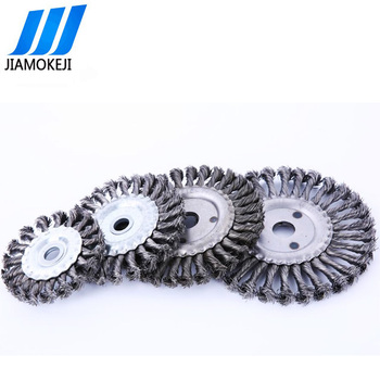 6 inches high quality Stringer Twisted Knot Wire Wheels Brush