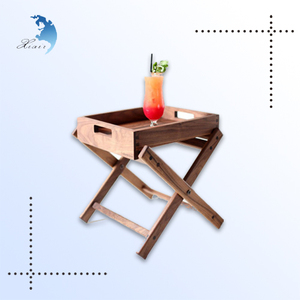 High quality coffee server wooden Small folding table