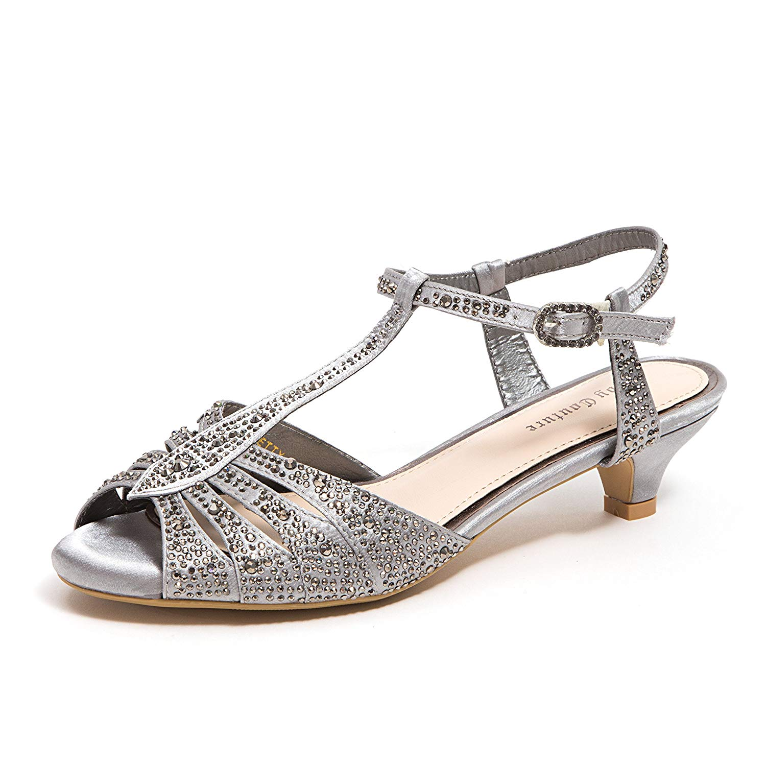 15581205bb99 Get Quotations · Lady Couture Women s Wide Width Dressy Sandals with  Rhinestone