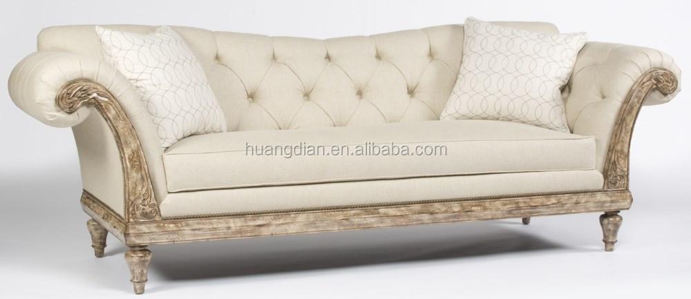 Französisch Stil Luxus Möbel Wohnzimmer Sofa Weiß Handcrafted Tufted Sofa