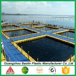 Chinese manufacturer supply floating dock plastic pontoon cubes for water mat