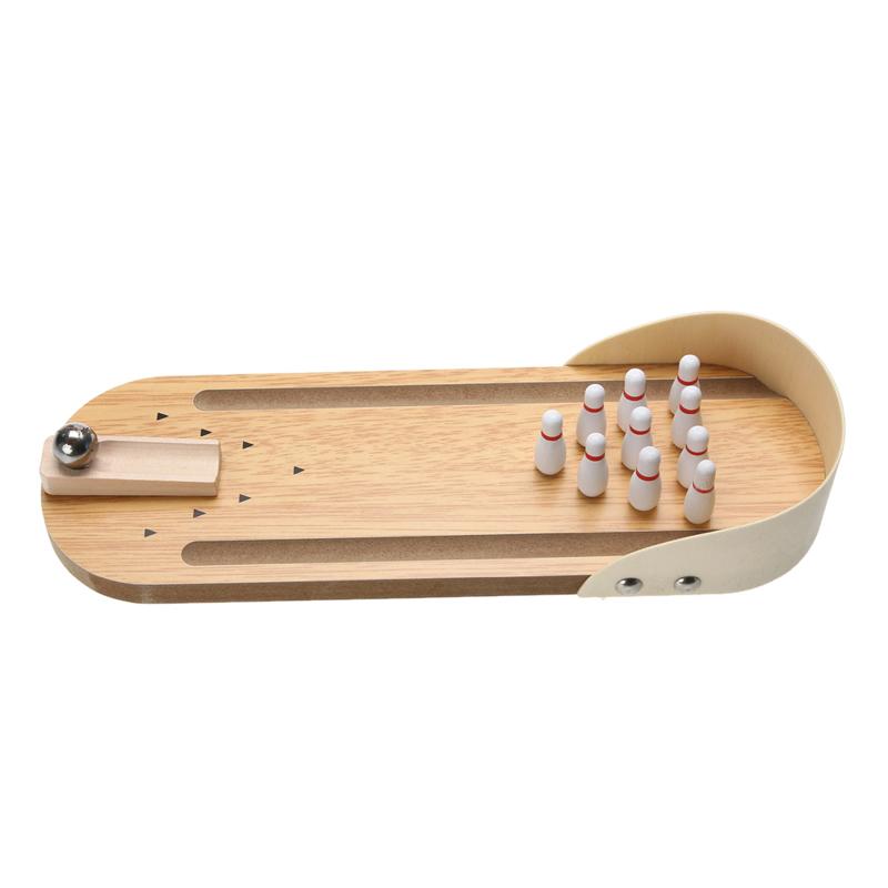 1441b7cec3dca Mini Lustige Desktop Bowling Spiel Set Holz Kegelbahn Zehn Metall Pin Ball  Schreibtisch Kinder Kid Spielzeug Geschenk Hohe Qualität. 94267-31 94267-33  ...