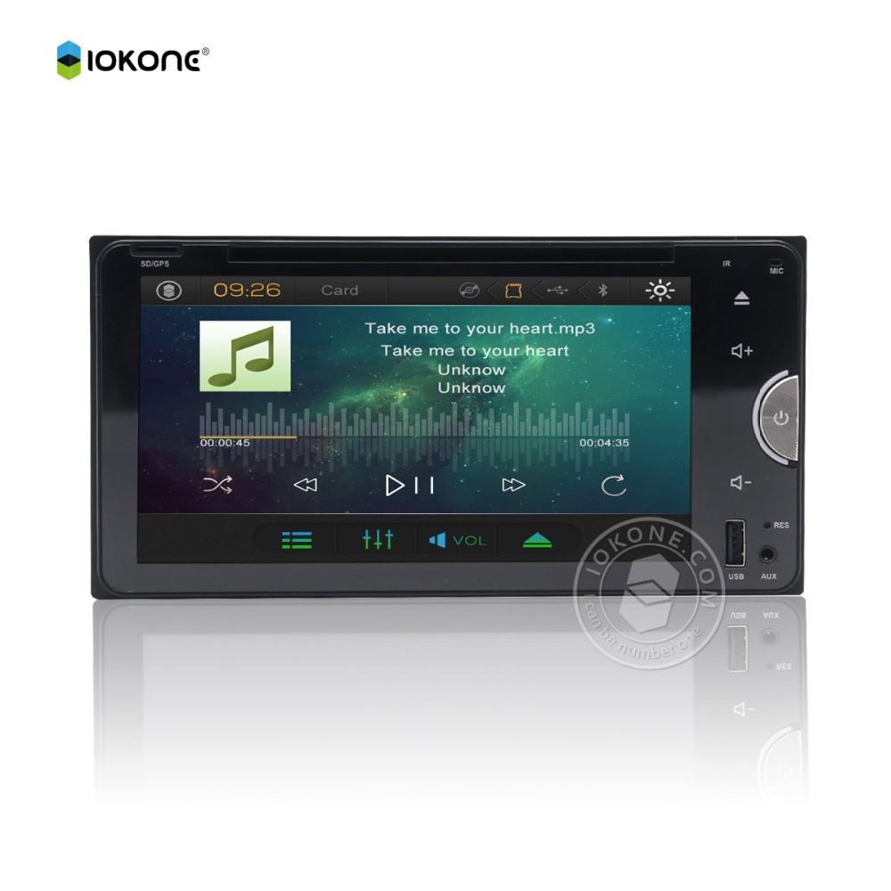 Factory Wholesale IOKONE Wince 6.0 Car Central Multimedia for TOYOTA Gps 3d Tv Touch Usb Sd Camara