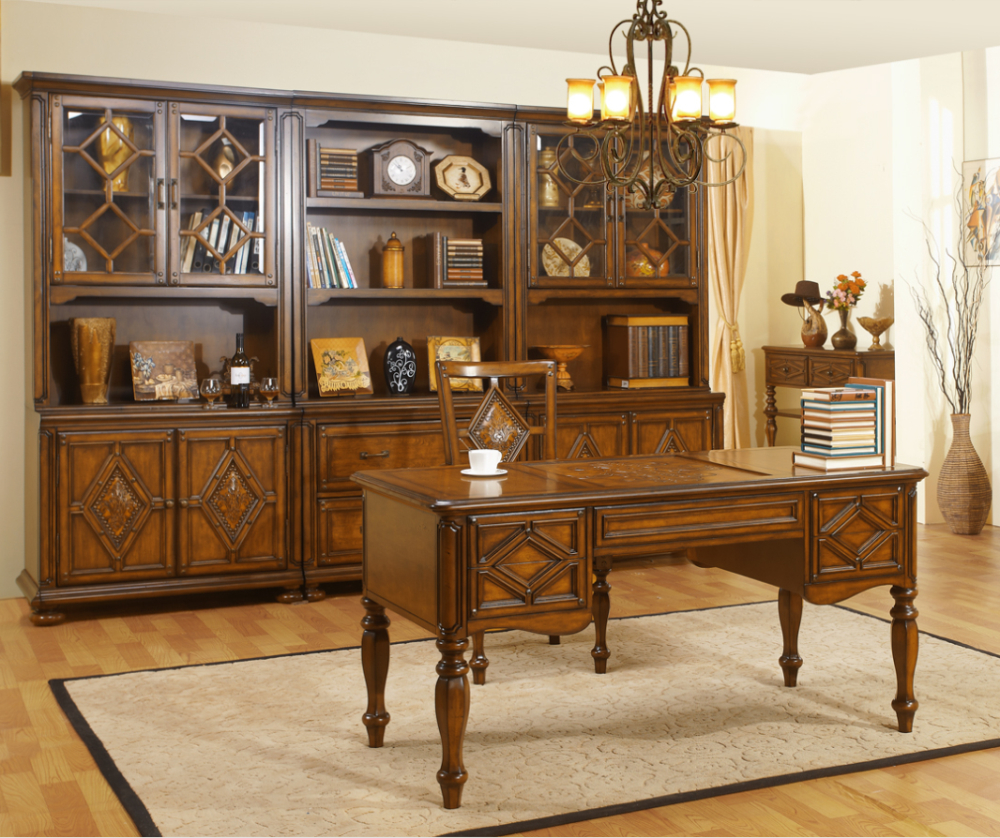 Pa S De Am Rica Antiguo De Lujo Cama Muebles De Color Oscuro