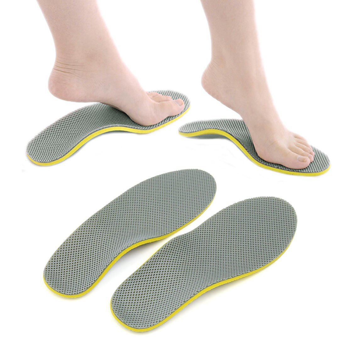 Get Quotations · uxcell Pair Unisex Orthotic Foot Shoes Insoles Insert High Arch  Support Pad Cushion 32a9484e8a0