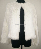 YR060 Australia Style Knitted Top Quality Rabbit Fur Jacket Wedding fur Bolero