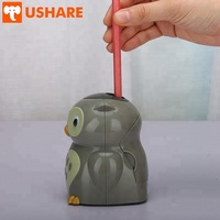 2018 Hot Sale School Office Stationery Funny Fashionable Cartoon Owl Shape ABS Plastic Automatic Pencil Sharpener