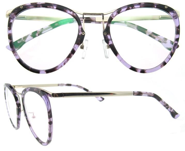 Últimas Muchachas Del Diseño Superior Óptico Gafas Redondas Demi ...