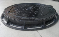 Cast Iron Cover and Frame of EN124 with Double Triangular Manhole Cover