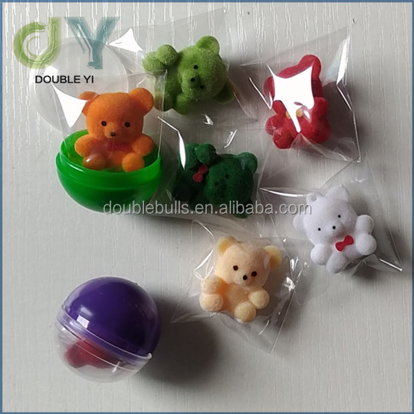 custom plastic cute mini animal gashapon capsule Toys for capsule toys mini animal inside