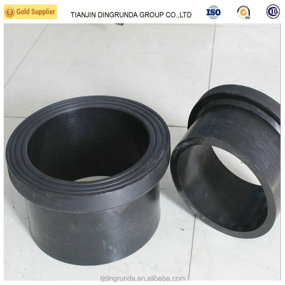 HDPE pipe accessories Flange adapter, elbow, tee, coupler black poly pipe fittings