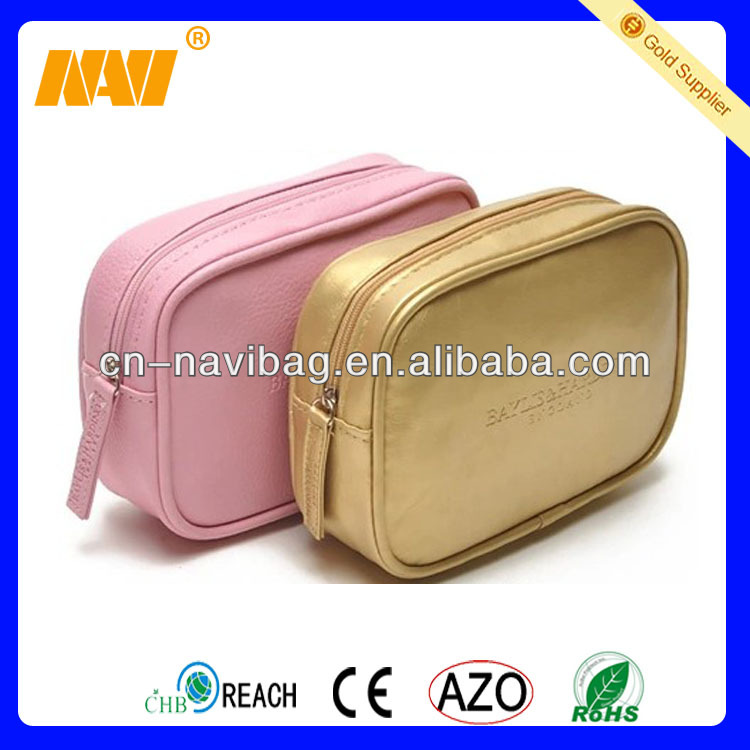 Chinese professional cosmetic bag factory produce soft leather cosmetic bag(NV-CS034)