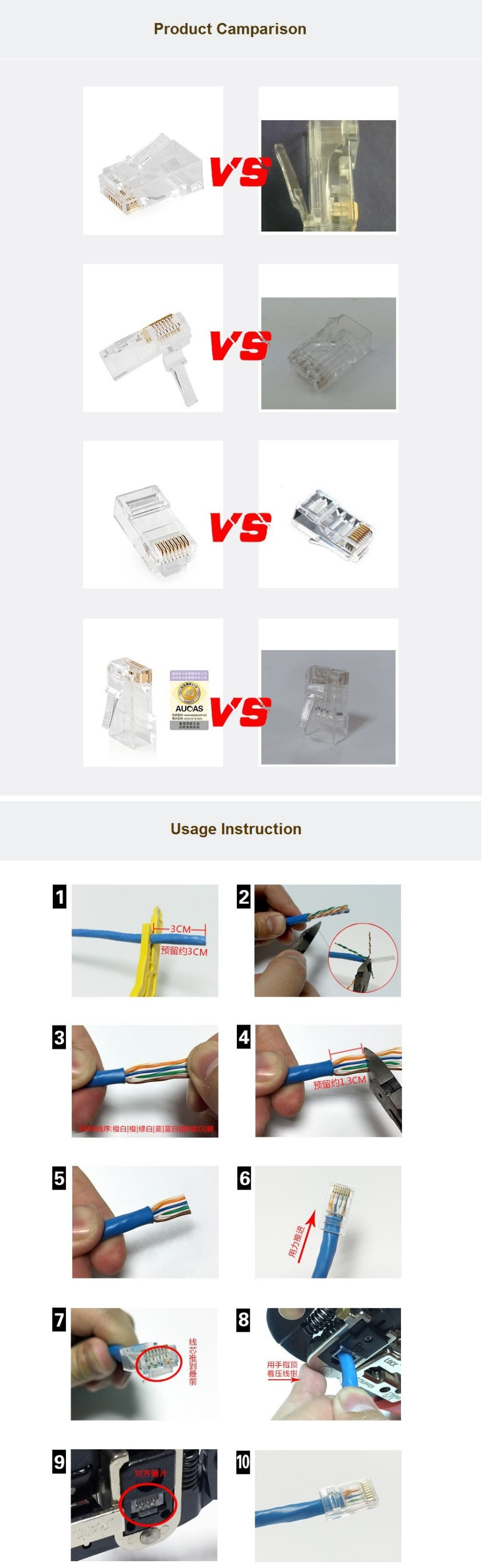 Category 6 Cable Cat 5 Utp Outdoor Ethernet Cable Connector And