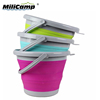 Retractable 10L camping bucket folding water bucket fishing silicone bucket