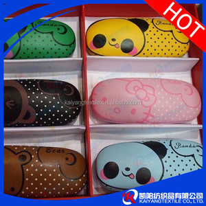 chinese factory custom metal eyeglasses optical case leathery face fashion design
