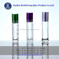 Roller ball Bottles Essential Oil 8ml Clear Glass Roll On Refillable