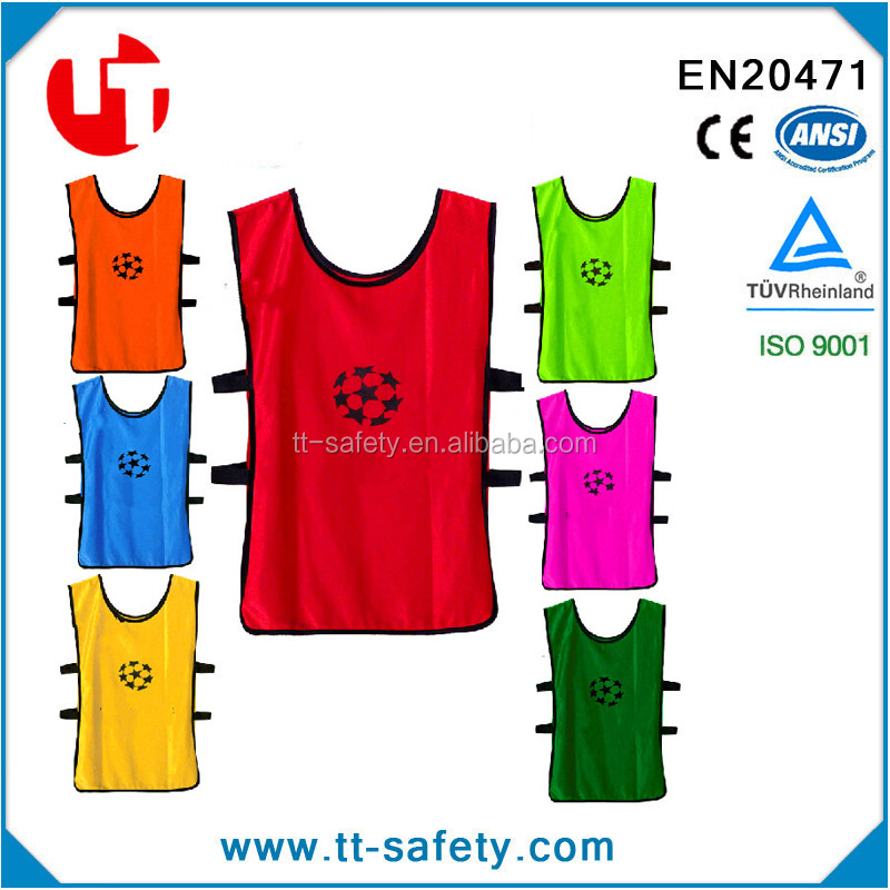 customized printing adult & kid soccer training vest soccer training bibs