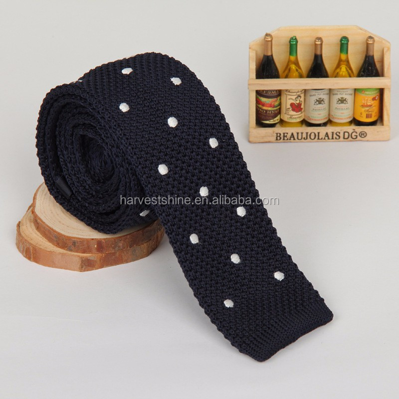 Men\'s Hand Knitted Dot Tie,Polyester Knitted Neckties,Knit Tie ...