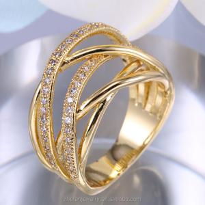 7a946277fed10 Hot Sale Ladies Finger Gold Ring Design Saudi Arabia Gold Wedding Ring