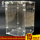 popular lockable pmma plexiglass pet feeding box acrylic reptile snake pet display cage