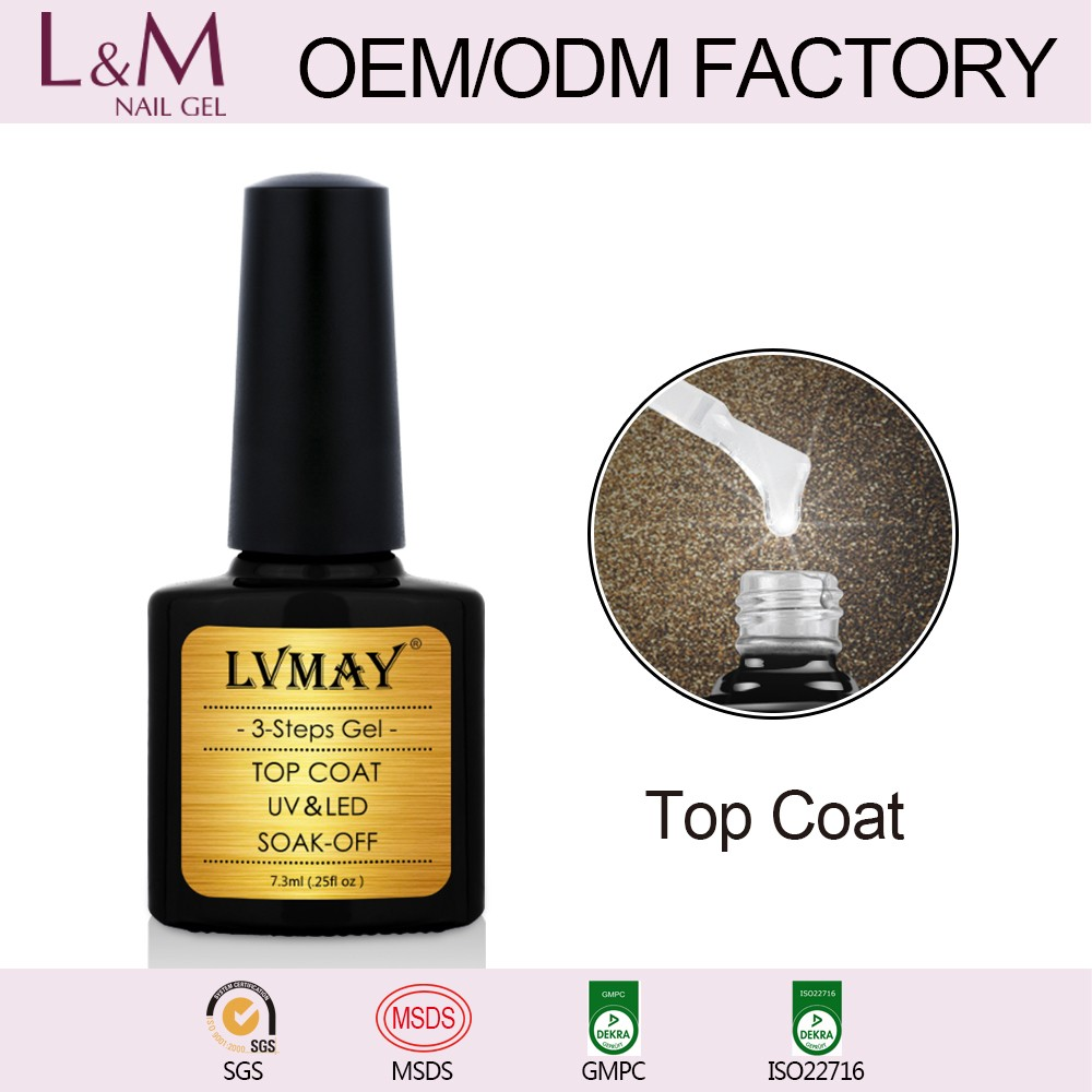 2017 Hotsale LVMAY top it off UV LED Profession Gel Nail Supplier
