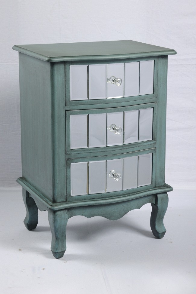 Wood French country bedside table